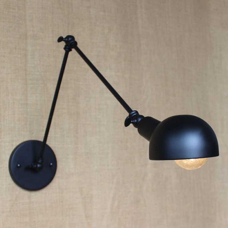 E27 база Ретро Лофт промышленный светодиодный настенный светильник в винтажном стиле бра с регулируемой ручкой металлический деревенский Лофт Светильник Бра Светильники