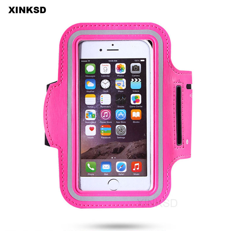Universal Within 5.5 inch Colorful Waterproof Phone Bags Pouch for iPhone 8 5 5S SE 6 6s 7 Plus bag Sport running Armband Case
