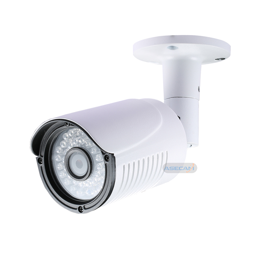 New Product 4MP HD Security Camera White Metal Bullet CCTV AHD OV4689 Surveillance Camera Waterproof 36 infrared Night Vision in Surveillance Cameras from Security Protection