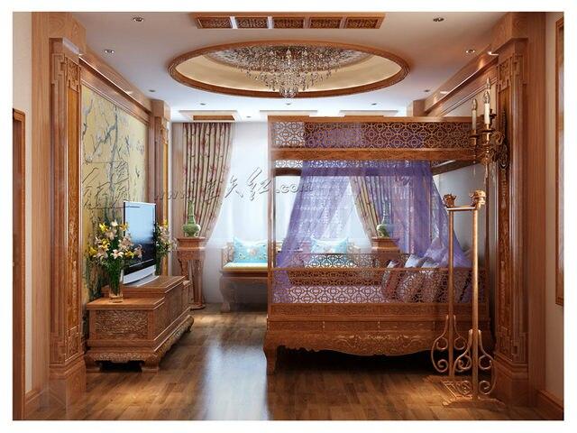 Tienda Online Chino clásico Canopy cama almacenamiento completo cama ...