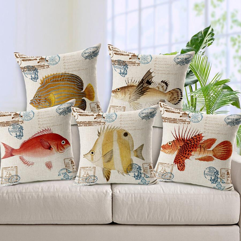 *US SELLER*4pcs wholesale cushion covers nautical sea life turtle wholesale