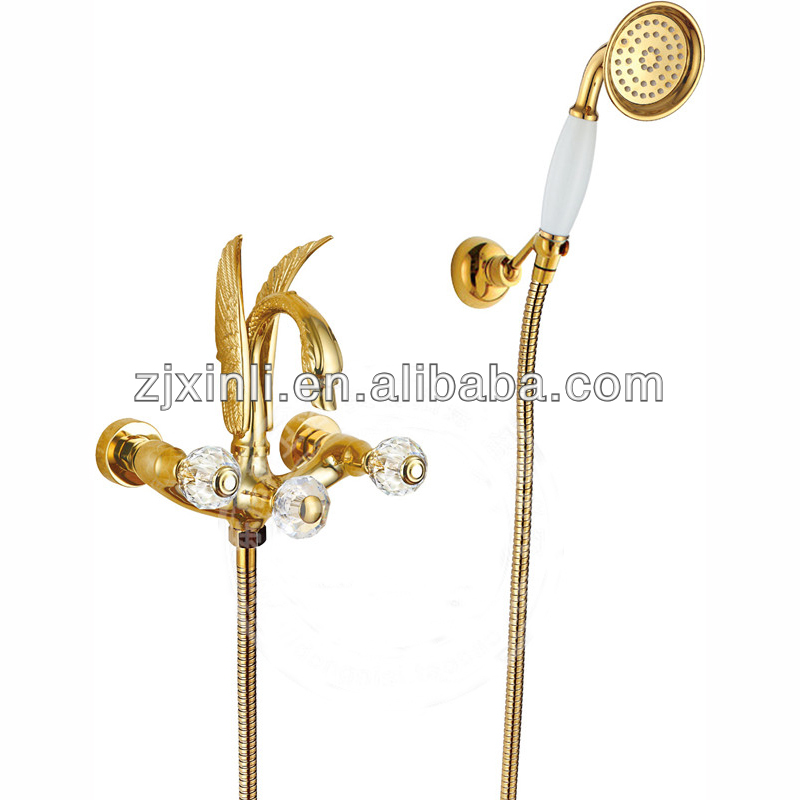 Deck Mounted Artical Brass Bath Swan Faucet X9612BS ...