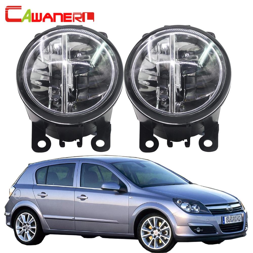 Cawanerl For Opel Astra G H 1998-2010 Car Light 4000LM /Set H11 LED Fog Light DRL Daytime Running Lamp 12V 6000K White 2 Pieces