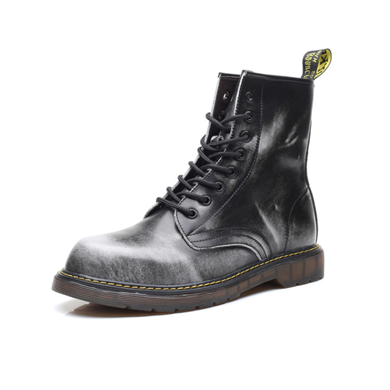 Autumn Winter Men Martin boots Male shoes Genuine leather Motorcycle boots Luxury Vintage Lace-Up Outdoor Ankle boots 2016 new martin male autumn and winter genuine leather platform medium leg mens equestrian vintage motorcycle boots