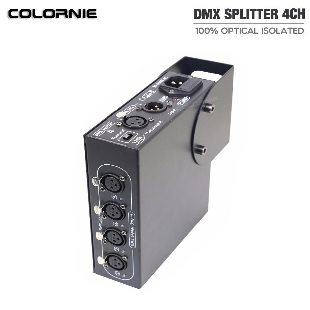4CH DMX Splitter DMX512 Light Stage Lights DMX Signal Amplifier DMX512 Splitter 4way DMX Distributor4CH DMX Splitter DMX512 Light Stage Lights DMX Signal Amplifier DMX512 Splitter 4way DMX Distributor