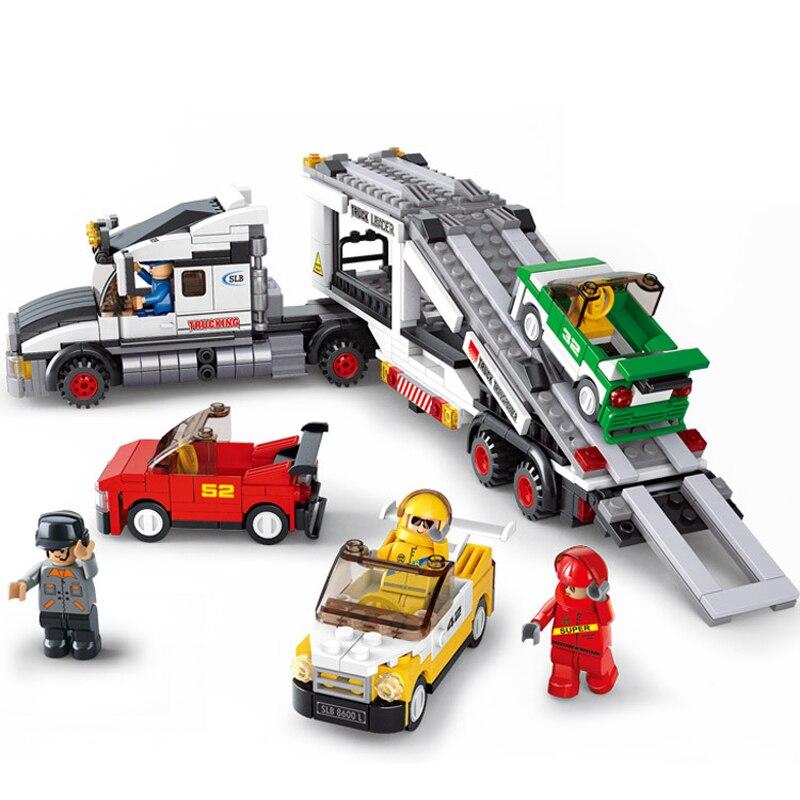 638 pièces 2019 nouveau Technic série blocs de construction jouet Compatible Lepinings ville série course Transport meilleurs cadeaux pour enfant
