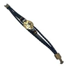 12 Constellations Bracelet 2018 New Fashion Jewelry Leather Bracelet Men Casual Personality Zodiac Signs Punk Bracelet XY160496