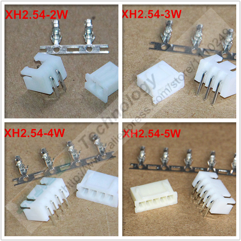 50sets/lot XH2.54-2 - 12W XH2.54 2.54 mm connector,Female housing + Right angle male PIN Header + Terminal, 2.54mm 2 3 - 12 pins 1000pcs dupont jumper wire cable housing female pin contor terminal 2 54mm new