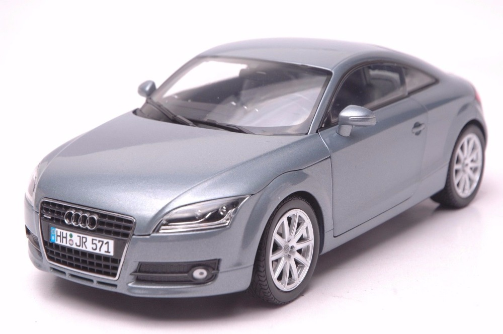 1:18 Diecast Model for Audi TT Coupe Gray Alloy Toy Car Miniature Collection Gifts 3rd Generation модель автомобиля 1 24 motormax audi tt coupe 2007