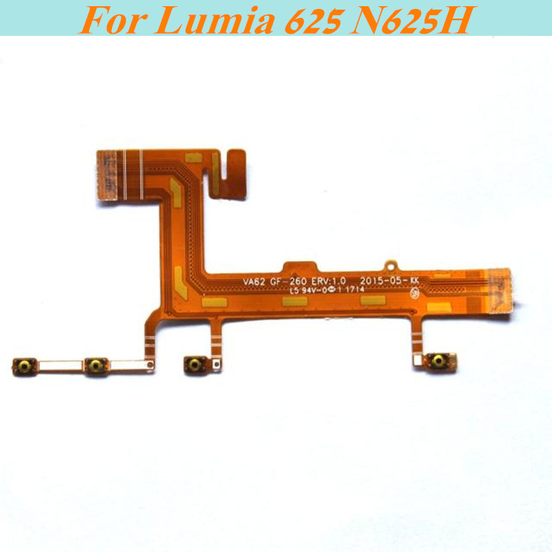 New original Power ON/OFF volume camera side button key Flex cable For Nokia Lumia625 N625H connection cable