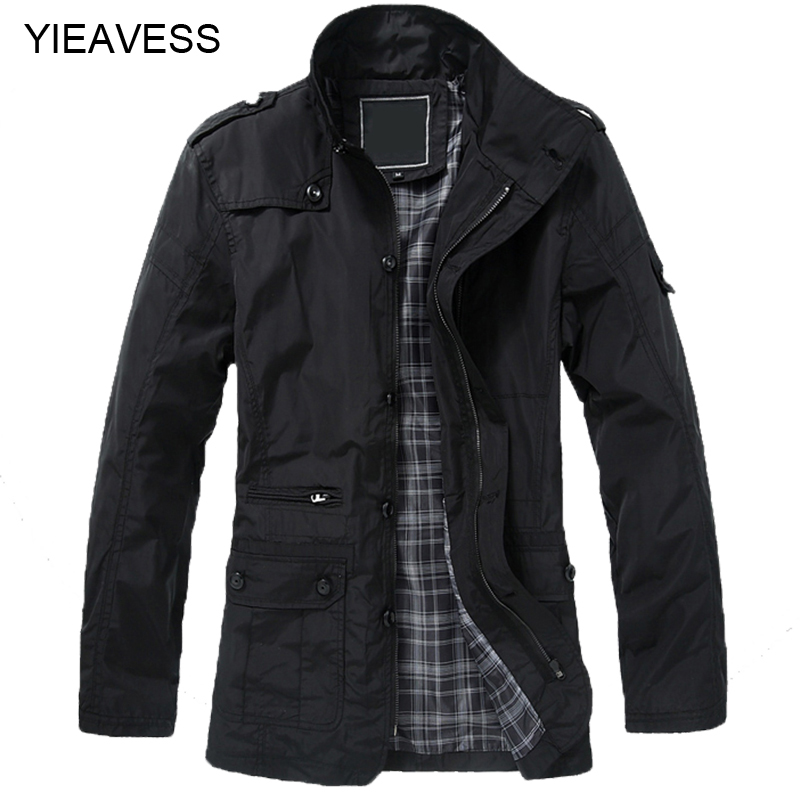 2018 Winter Jacket For Men Trench Coat Men Winter Male Jacket Turn-Down Collar Plus Size 5XL Long Jacket Mens Overcoat MC979