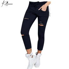 Summer Women Sexy Pencil Pants Candy Color Casual Skinny Pants Cotton Trousers Hot Sale High Waist For Women Jeans Denim Legging