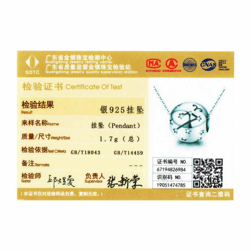 Wostu 12 Chòm Sao Bạch Dương Hạt Bạc 925 CZ Quyến Rũ Phù Hợp Với Ban Đầu Tự Làm Vòng Tay Hạt Trang Sức Làm FIC1218