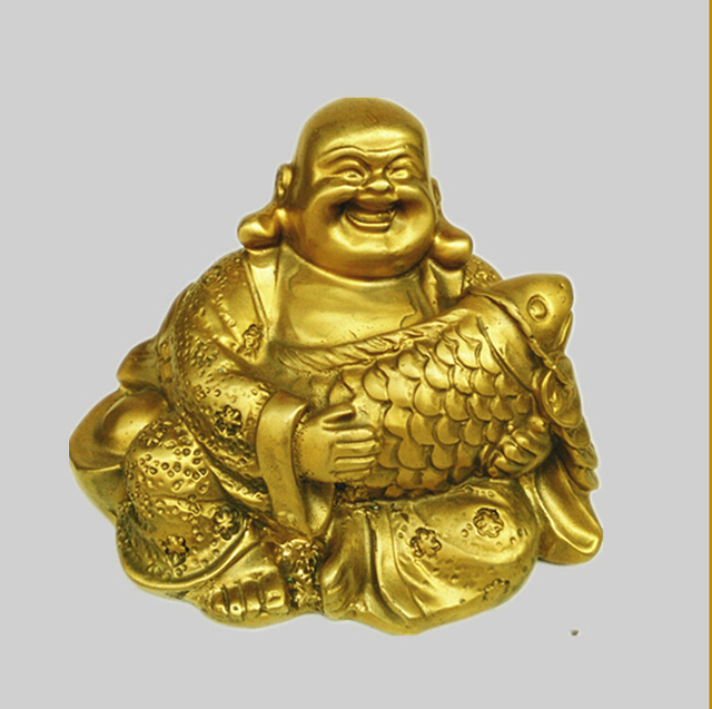 SUIRONG 2017 616+++Maitreya copper Buddha fish hold May there be ...