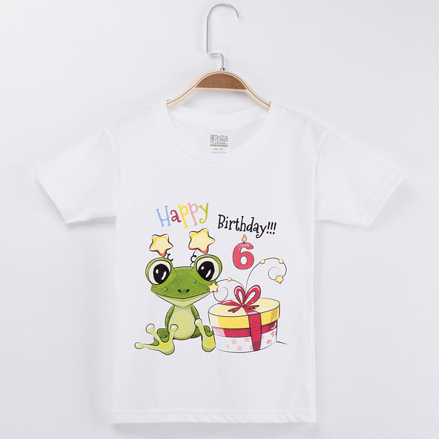 Ideas For Birthday T Shirt Printing Cute Green Frog Cartoon Cotton Children Clothing Baby Boys Clothes New Tops Girl 2019