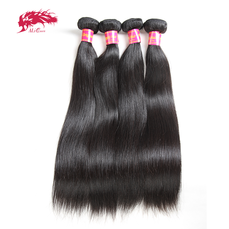 Ali Queen Hair Straight Brazilian Hair Weave Bundles 8