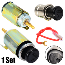 1set 12V Universal Auto Car Cigarette Lighter Head+Socket Assembly For Interior Part Ignition