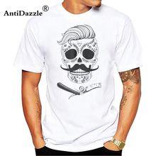 2018 Vendita Calda Super Modo personalizzato t shirt printingGreaser  Originale rockabilly taglio di capelli rasoio del barbiere . 7203e2776647