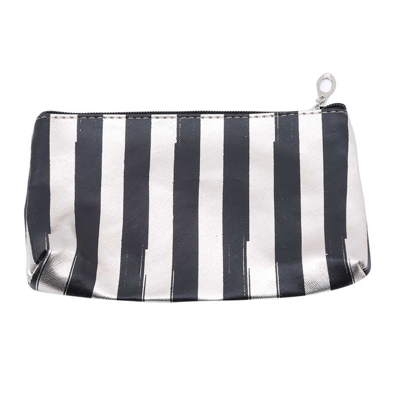 3pcs/set Cosmetic Bag Striped Travel Organizer Portable Toiletry Bag Waterproof Washable Transparent Makeup Bag Case