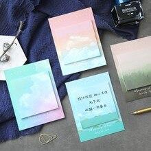 1 Набор блокнотов для заметок, Липкие заметки, Kawaii, цветная облачная бумага, блокнот для ежедневного скрапбукинга, стикеры для офиса, школы, канцелярские закладки