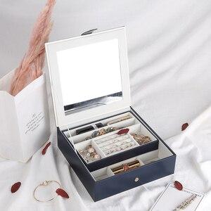 Image 2 - 2019 新ファッション革の宝石箱のギフトボックス包装ディスプレイ大絶妙な化粧ケース高級ジュエリーオーガナイザー
