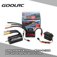 GoolRC 4068 2050KV Brushless Motor S 120A ESC With 9 0kg HV Servo Upgrade Brushless Combo