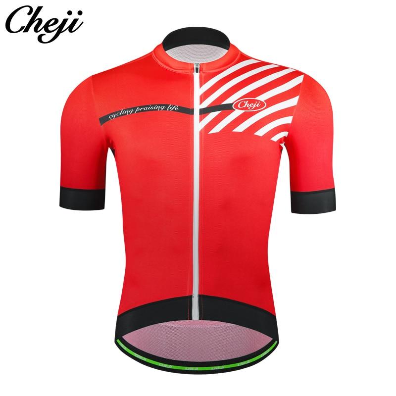 CHEJI 2018 MTB Road Bike Jersey Men Top Quality YKK zipper Black Red Orange  Blue Short Sleeve Cycling Clothing Bicycle Shirt-in Cycling Jerseys from  Sports ... 6078356d8
