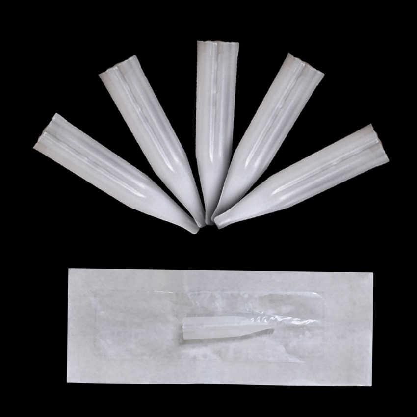 الوشم نصائح 50 قطع ماكياج الدائم الحاجب الشفاه كحل Microblading المتاح إبرة معقمة نصائح ل الوشم آلة القلم