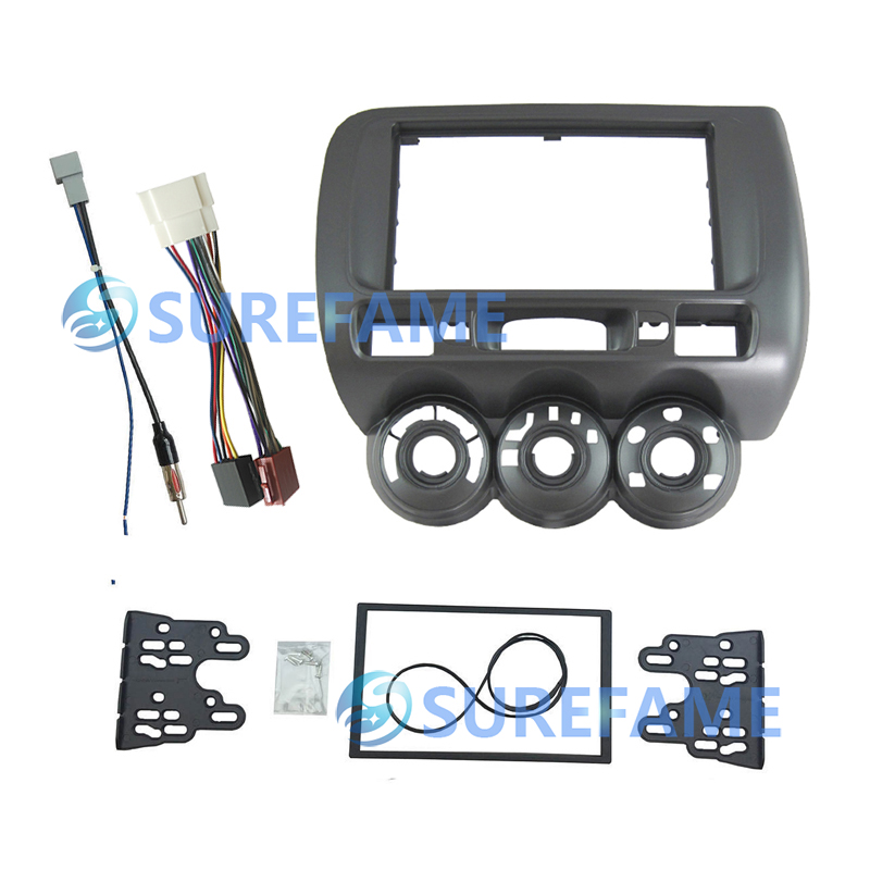 Double Din Car Fascia Panel for Honda 2002 2008 Fit Fit Spot Jazz Left Wheel Dash
