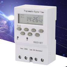 KG316T Timer Switch 220V Microcomputer Time Control Switch Programmable Automatic Mini Digital Timer Switch 220v digital cumulative time counter resetable timer count working hour