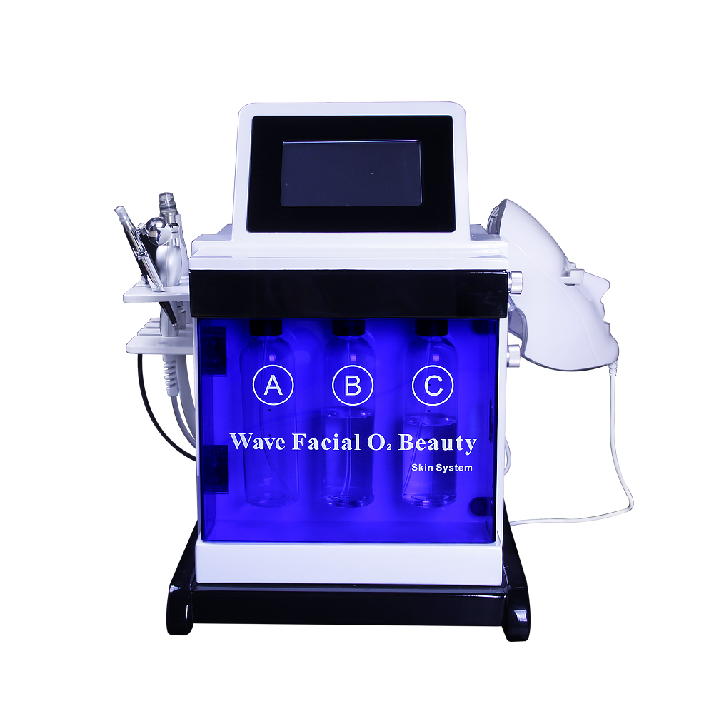 2019 Hot Selling!!! Oxygen Jet Peeling Hydra Facial Machine Skin Rejuvenation Machine Jet Peeling BIO Light Therapy Slimming