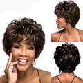 Afro Kinky African American Short Curly Wigs Quality Assurance Synthetic Hair For African Black Women Part Wig VELVEL