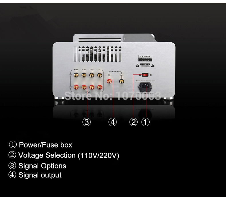 US $699 0 |W 004 1PCS YAQIN MS 845 Vacuum Tube Preamp Pre amplifier  Preamplifier SRPP Circuit Best Appearance 12AX7x2 12AU7x1 AC110~220V-in  Amplifier