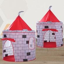 Kid Tent House Portable Princess Castle 105x105x135cm Present Hang Flag Children Teepee Tent Play Tent Birthday Gift  5.16
