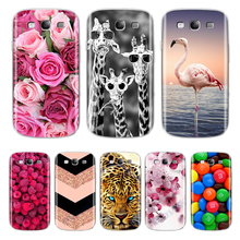 Back Cover Soft Funda For Samsung Galaxy S3 Flower Phone Case For Samsung Galaxy S3 Duos Neo S 3 I9300 Soft TPU Silicone Shell replacement extended 4800mah battery w back cover for samsung galaxy s3 i9300 white
