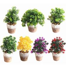 Artificial Plastic Flower Fake Plant Bonsai Ornament