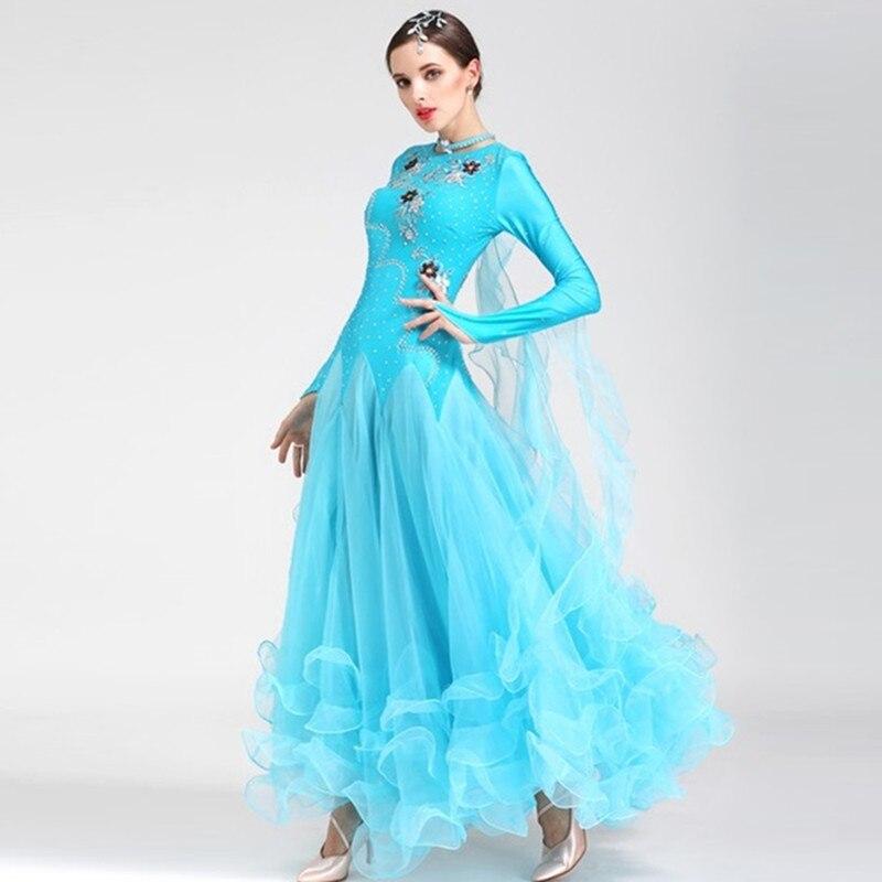 standard ballroom dress woman modern dance costume ballroom rumba dresses for dancing ballroom tango dress viennese waltz dress