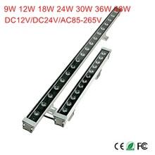 18 W 24 W 30 W 36 W 48 W étanche IP65 AC85-265V LED lumière d'inondation mur LED rondelle lampes Paysage Bleu clair/Vert/Rouge/Chaud/Froid/RVB