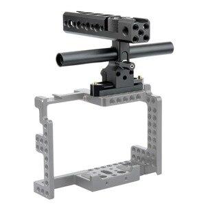 Image 3 - NICEYRIG Kamera Käfig Griff Grip NATO Schiene 15mm Rod Clamp Kalten Schuh für Sony für Panasonic für Nikon Video camcorder Stabilisierung