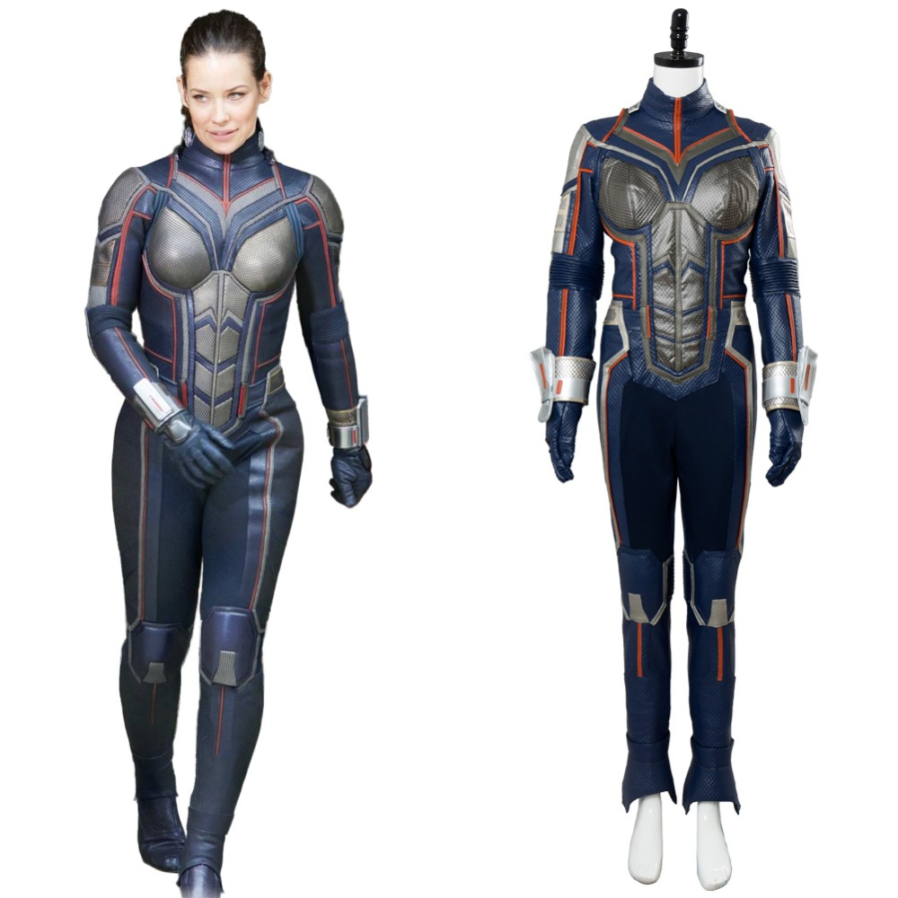 Ant-Man And The Wasp Cosplay Costume Adult Womne Men Hope Van Dyne Outfit Jumpsuit Halloween Carnival Cosplay Costume