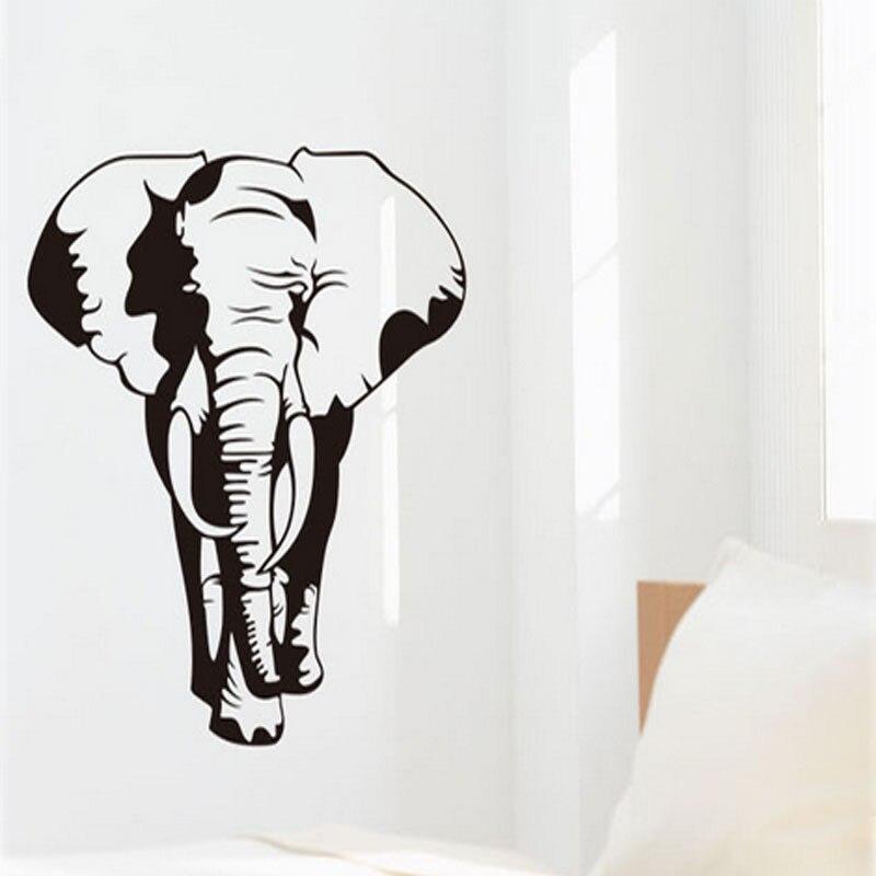 free shipping classic retro elephant art mural wall stickers removable vinyl home decor elephant decals - Elephant Home Decor