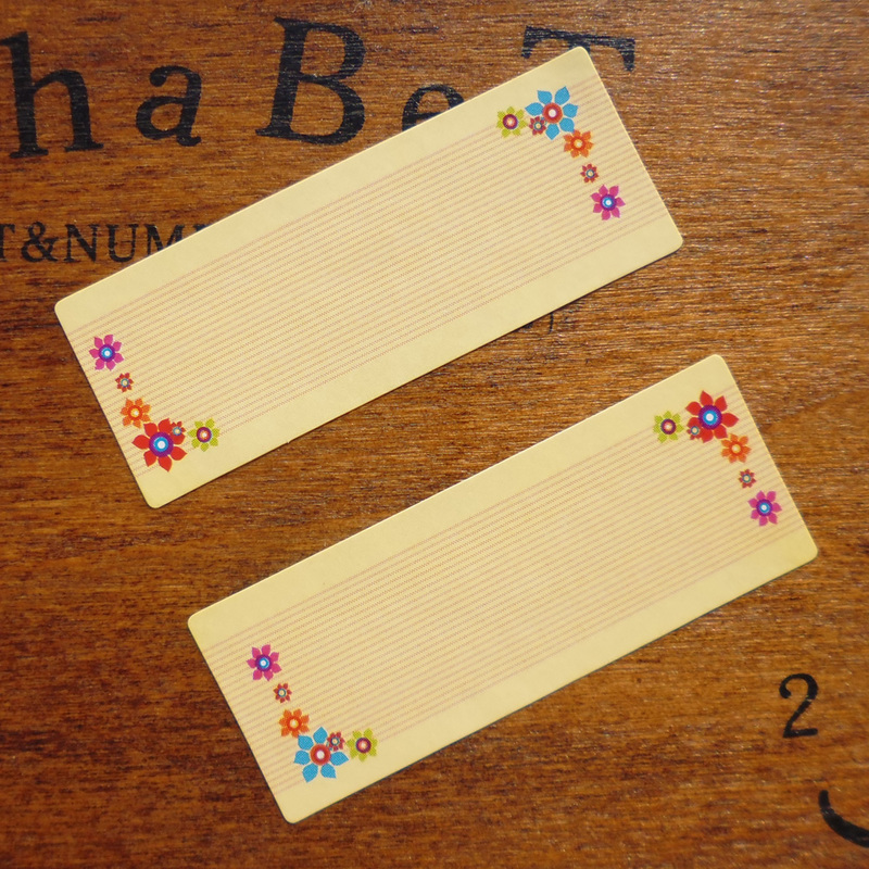 108pcs Floral Border Blank Seal Sticker Scrapbooking Kraft Paper Gift Sticker, DIY Self-adhesive Paper Sticker 1.8x4.65cm
