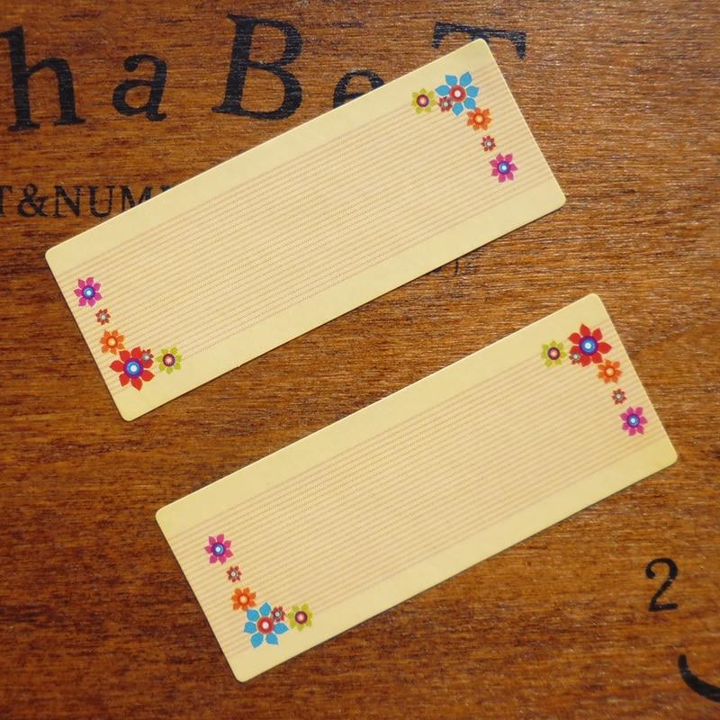 108pcs Floral Border Blank Seal Sticker Scrapbooking Kraft Paper Gift Sticker, DIY Self-adhesive Paper Sticker 1.8x4.65cm