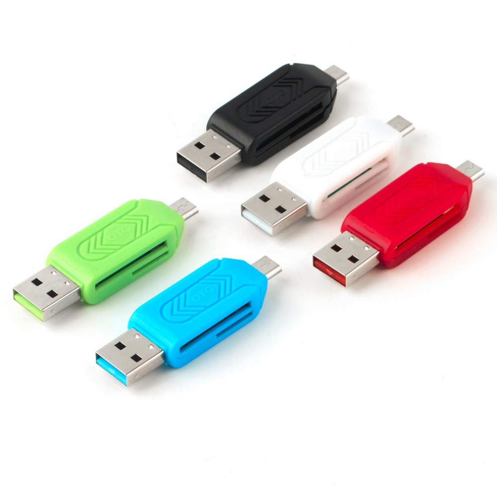 1pc Universal Card Reader Mobile Phone PC Card Reader Micro USB OTG Card Reader OTG TF Flash Memory Newest Wholesale