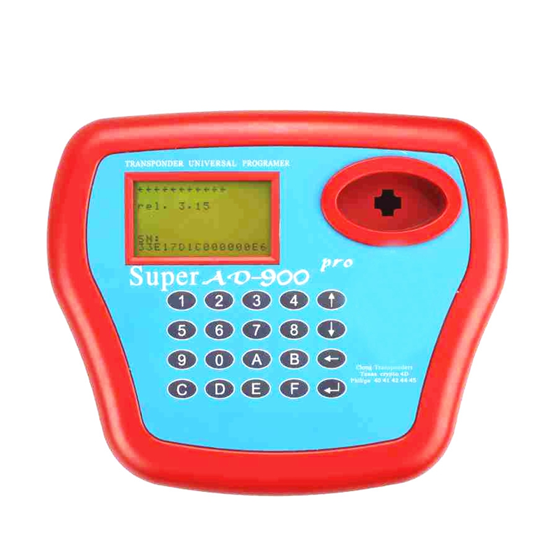 Newest V3.15 Super AD900 Key Programmer With 4D Function Add Copying 4D Chip Recognizing & Reading 8C/8E Chip Transponder
