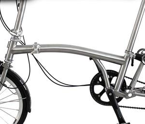 Image 3 - Katlanır bisiklet iskeleti GR9 TI3AL2.5V titanium alaşım brompton