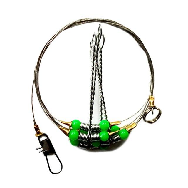 Nouveau Style 5 acier Anti-enroulement pivotant fil Leader connexion Balance cadre chaîne en plein air océan pêche crochets accessoires