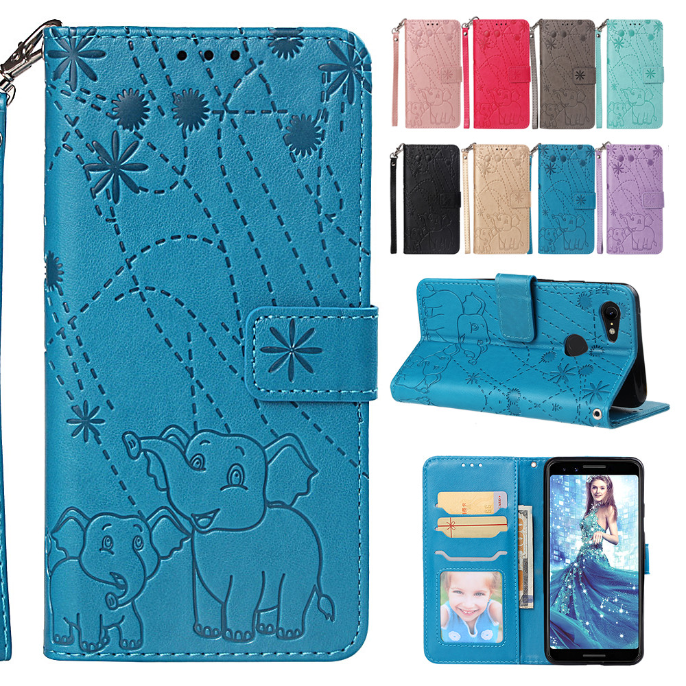Risiea Pu Leather Flip Wallet Case For Google Pixel 3 Xl Phone Cover Elephant Fireworks Case For Google Pixel 3 Coque Preventing Hairs From Graying And Helpful To Retain Complexion