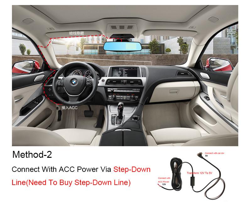 E-ACE Car Dvr 1080P Dual Lens Dash Camera Rear Mirror Digital Recorder With Rearview Camera Video Recorder Camcorder Registrar 31