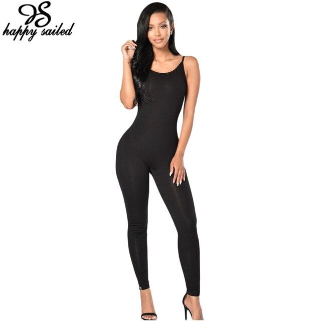 One piece Женская одежда боди серый черный Комбинезон Бретельках Стрейч длинные брюки bodycon Комбинезоны Комбинезоны 64106